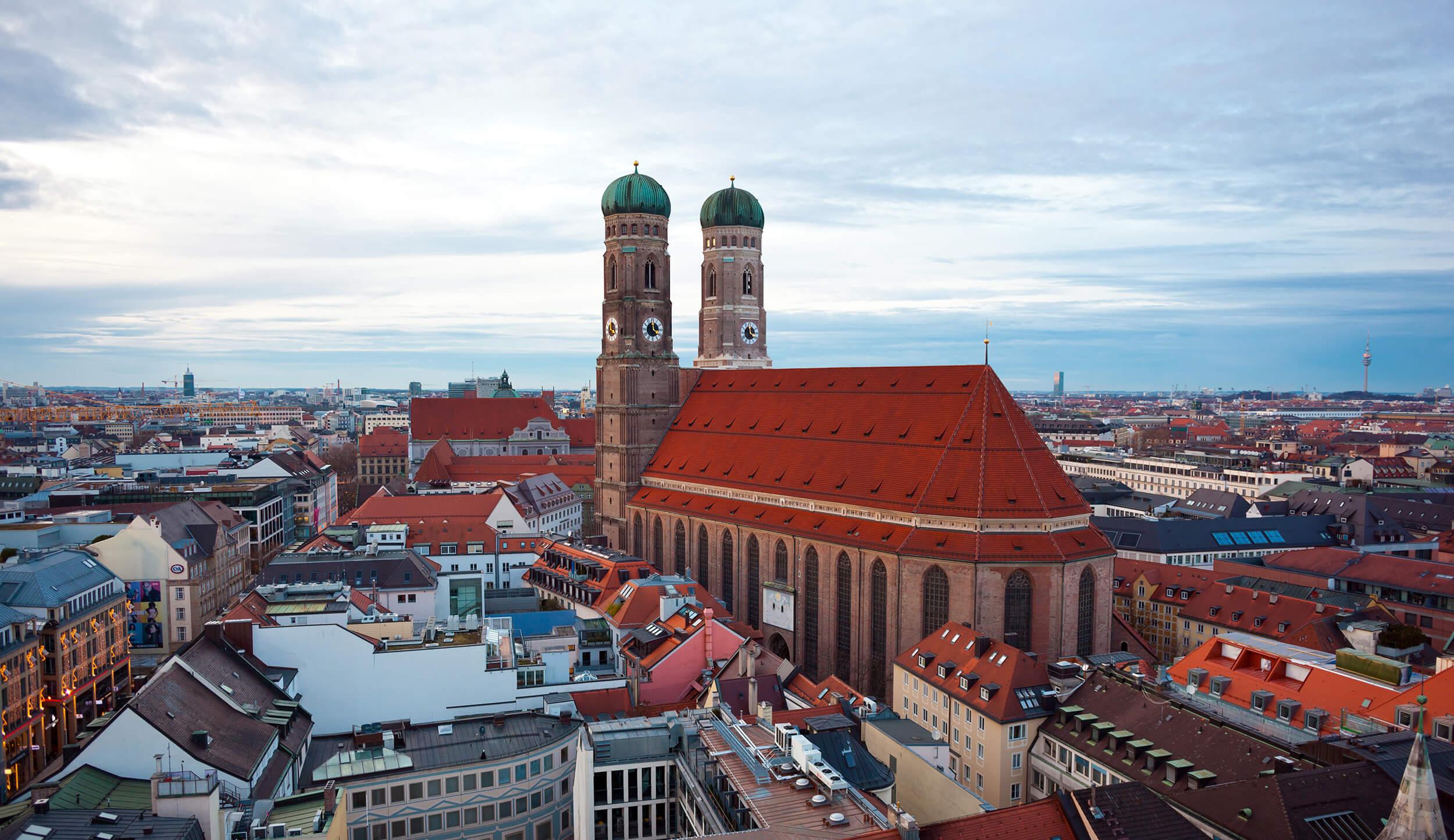 Tag på europarejse til München, Tyskland